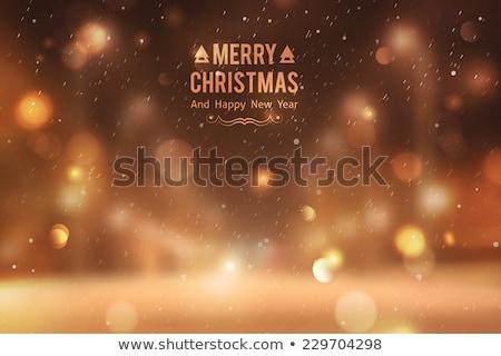 Hóesés arany hópelyhek elmosódott sötét nézőpont Stock fotó © SwillSkill