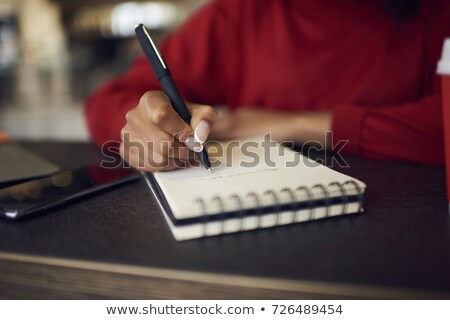 pour · faire · la · liste · texte · notepad · affaires · bureau · crayon - photo stock © andreypopov
