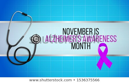 Ribbon To Support Alzheimer's Disease Awareness Stock photo © AndreyPopov