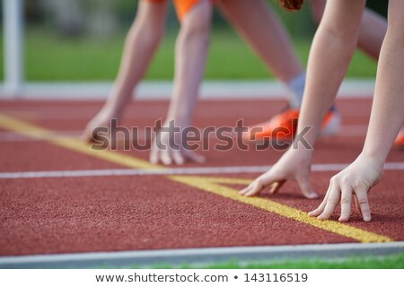 images of athletic kids stock photo © colematt