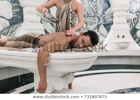 Donna terapeuta acqua rituale turco Foto d'archivio © Kzenon