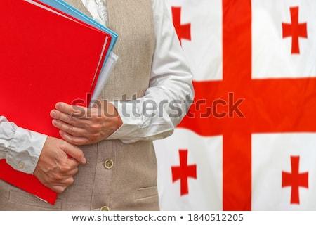 Carpeta bandera Georgia archivos aislado blanco Foto stock © MikhailMishchenko