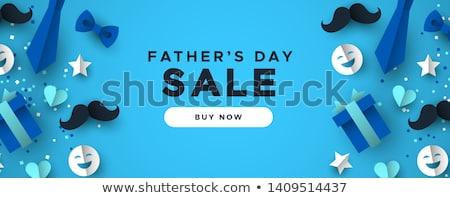 Akció szalag boldog család vektor ikon vásár Stock fotó © robuart