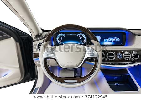 Interior moderno carro preto painel de instrumentos instrumento Foto stock © ruslanshramko