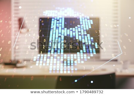Exchange - Coinroom. The Crypto Coins or Cryptocurrency Logo. Stock photo © tashatuvango