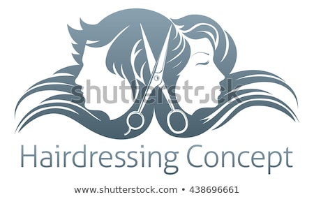 Spa Salon Woman and Man Barber Hairdresser Vector Stock photo © robuart