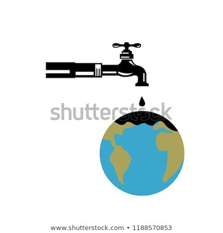 給水栓 · 実例 · 水滴 · 青 · 地球 - ストックフォト © patrimonio