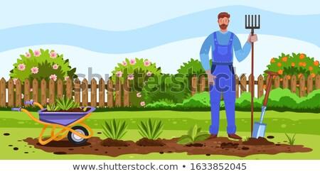 agricoltore · agricola · strumenti · set · lavoro · uomo - foto d'archivio © robuart