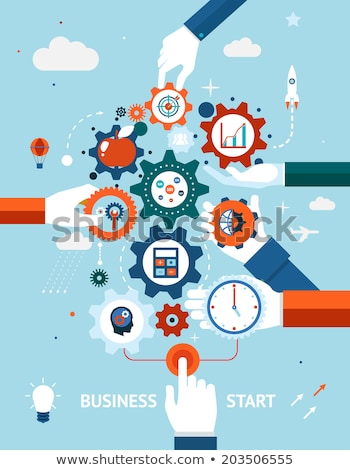 Time To Launch Clock Concept Stock photo © ivelin
