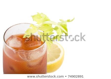 véres · koktél · üveg · asztal · bár · paradicsom - stock fotó © dla4