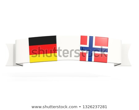 Banner with two square flags of Germany and norway Stock photo © MikhailMishchenko