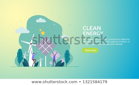 Wind power concept landing page. Stock photo © RAStudio