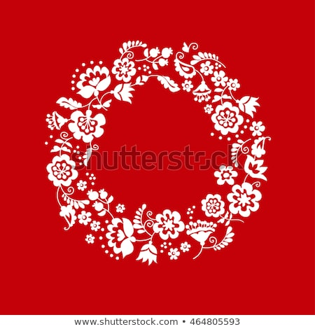 Traditional Ukrainian red floral ornament Stock photo © Artspace