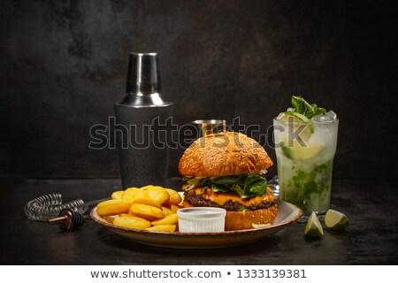 Burger and glass of mojito  Stock photo © grafvision