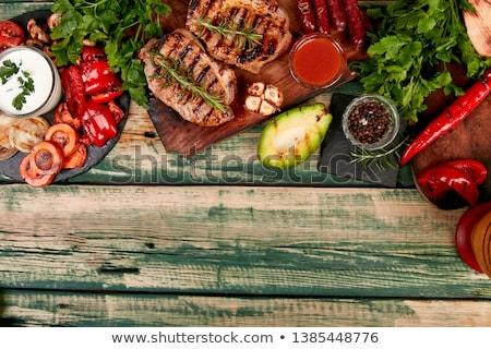 Bistecca carne di maiale grill legno tagliere varietà Foto d'archivio © Illia