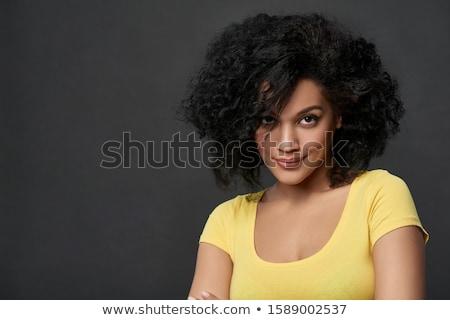 Yoğun bakmak yakışıklı genç portre beyaz Stok fotoğraf © ajn