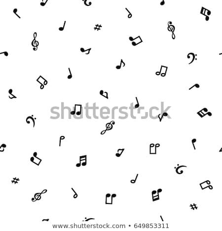notas · musicais · padrão · estilizado · música · projeto - foto stock © netkov1