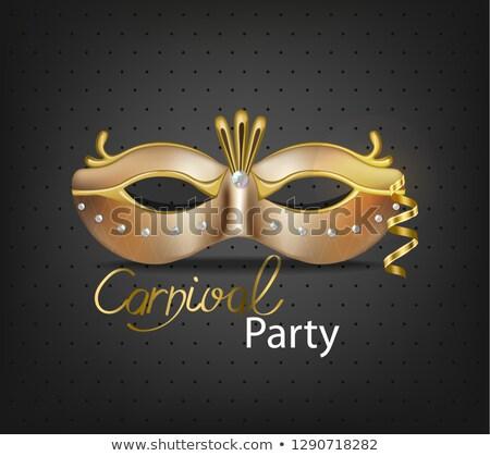 Принцесса карнавальных блеск маске вектора Сток-фото © frimufilms