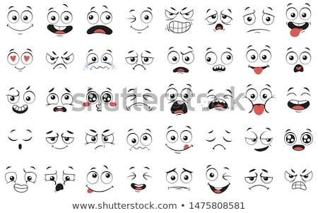 Grappig cute emoticon illustratie pop gezicht Stockfoto © Blue_daemon