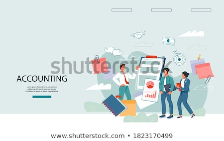 Financial Statements Analysis and Solution Web Photo stock © robuart