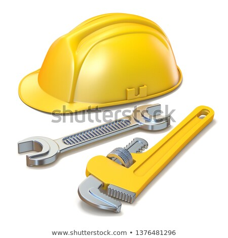 Construction helmet and piper tool 3D Stock photo © djmilic