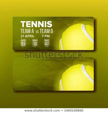 Stockfoto: Heldere · bon · bezoeken · tennis · toernooi · vector