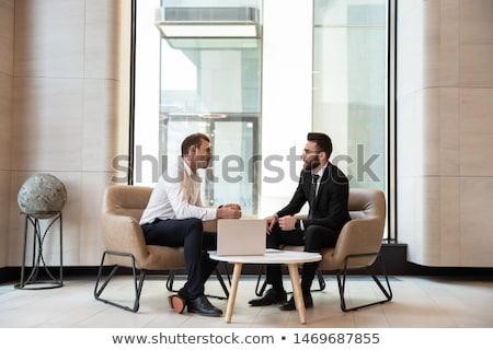 Сток-фото: Working Man Dealing With Statistics Analyzing
