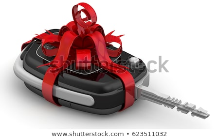 car in gift packing on white background isolated 3d illustratio stock photo © iserg