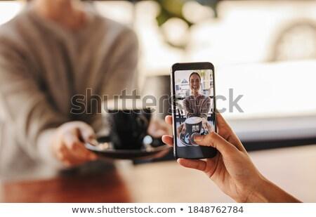 teléfono · móvil · comunicación · hablar · Europa · felicidad - foto stock © deandrobot