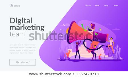 Digitale marketing team app interface sjabloon Stockfoto © RAStudio
