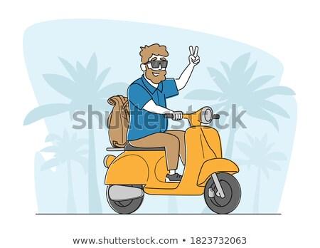 reizen · ouderdom · vector · ontwerp · ouderen · paar - stockfoto © robuart