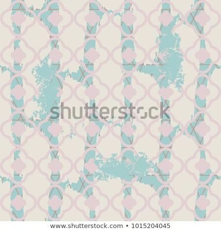 Pálido azul sem costura vetor padrão geométrico Foto stock © yopixart