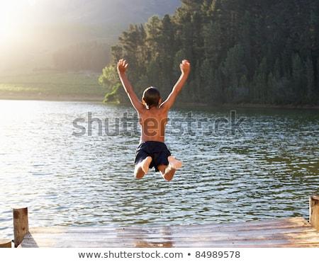 natação · verde · água · oceano · lago - foto stock © anna_om