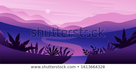 пруд · сцена · иллюстрация · небе · облака · природы - Сток-фото © bluering