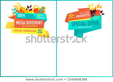 Mega Sale Discount for Natural Exclusive Products Stock photo © robuart