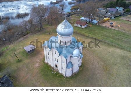 Chiesa salvatore campo cielo costruzione estate Foto d'archivio © borisb17