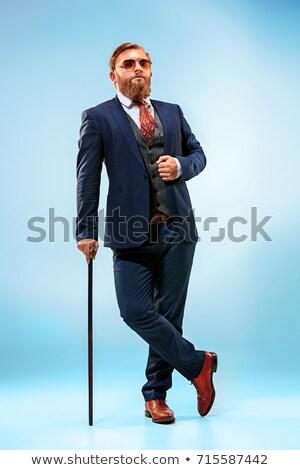 Jonge gentleman geïsoleerd witte man zakenman Stockfoto © Elnur
