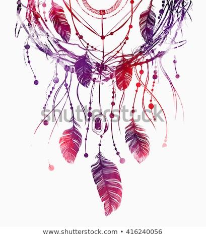Kézzel rajzolt hippi szín rajz koponya arc Stock fotó © netkov1
