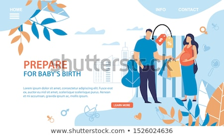 Maternity services landing page concept Stock photo © RAStudio