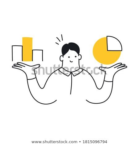 Finanziellen analytische Geschäftsmann Aktentasche Hände Mann Stock foto © robuart