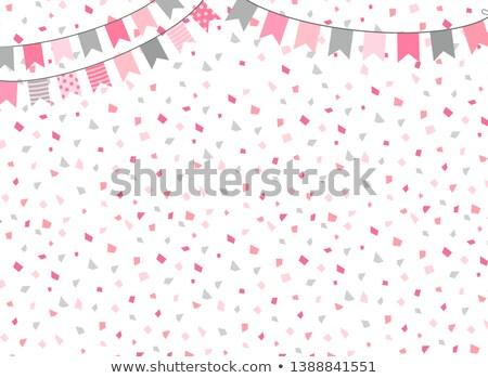 uroczystości · karty · strony · konfetti · wiszący - zdjęcia stock © pravokrugulnik