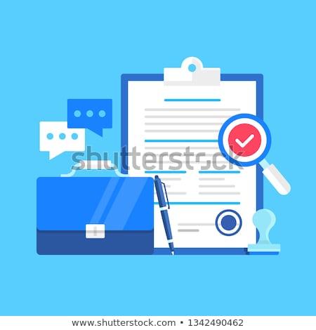 Licensing contract concept vector illustration Stock photo © RAStudio