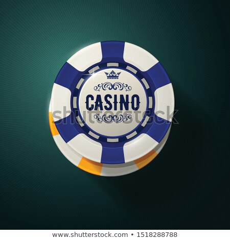 Casino chip top view - gambling chips with crown, roulette game Stock photo © Winner
