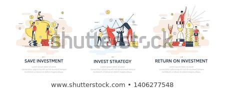 Investissement vecteur métaphore argent contribution démarrage Photo stock © RAStudio