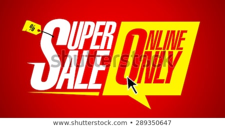 Ad Icon with Super Sale and Discount, Label Vector Stock photo © robuart