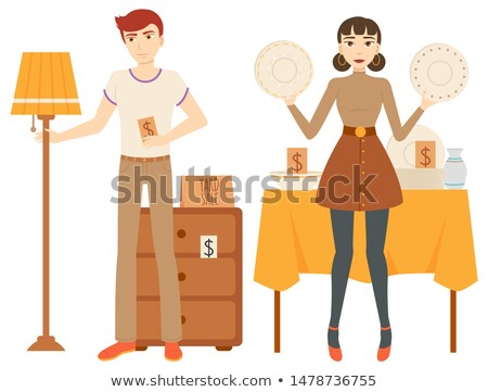 Retail of Furniture and Dishware, Garage Vector Stock photo © robuart