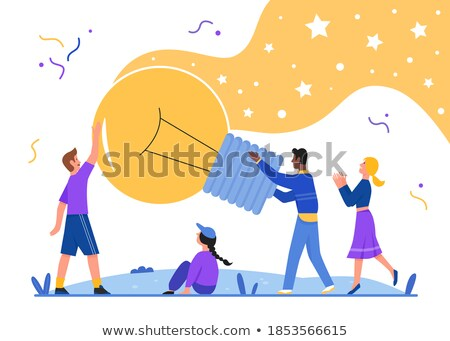 We Create Great Solutions Person Idea Light Bulb Stock photo © robuart