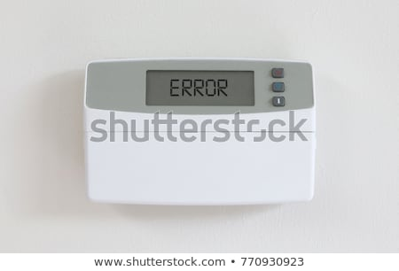 Vintage digital thermostat - Covert in dust - Error Stock photo © michaklootwijk