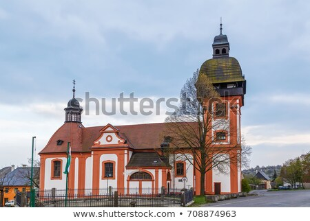 Church in Valec, Czech republic Stock photo © borisb17