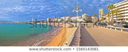 Frejus sand beach and waterfront view Stock photo © xbrchx